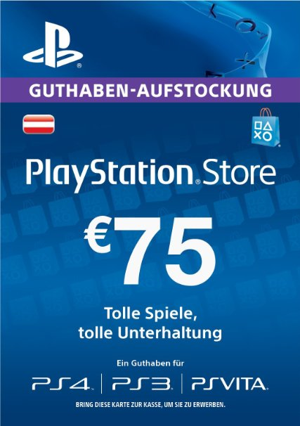 PlayStation Store €75